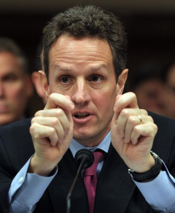 Timother Geithner could use a liberal media right now.